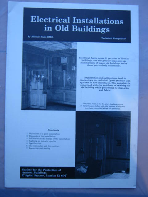 Image for Electrical Installations in Old Buildings :