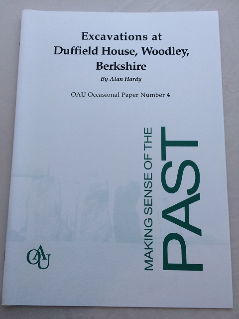 Image for Excavations at Duffield House, Woodley, Berkshire :OAU Occasional Paper Number 4