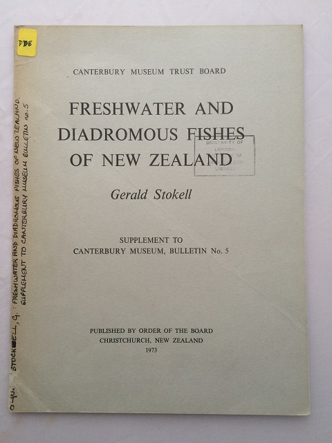 Image for Freshwater and Diadromous Fishes of New Zealand :Supplement to Canterbury Museum, Bulletin No. 5