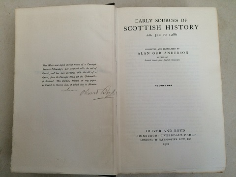 Image for Early Sources of Scottish History, A.D. 500 to 1286 :Volume I & II