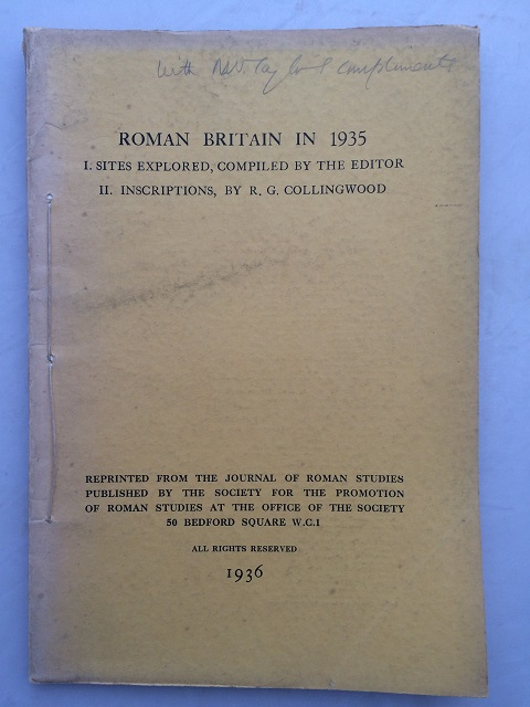 Image for Roman Britain in 1935 :I. Sites Explored, II. Inscriptions