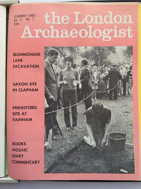 The London Archaeologist, Summer 1982, Vol. IV, No. 7 :
