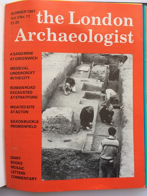 The London Archaeologist, Summer 1987, Vol. V, No. 11 :
