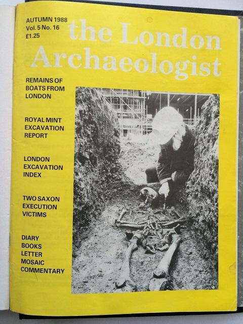 The London Archaeologist, Autumn 1988, Vol. V, No. 16 :