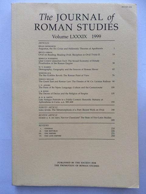 The Journal of Roman Studies, Volume LXXXIX :