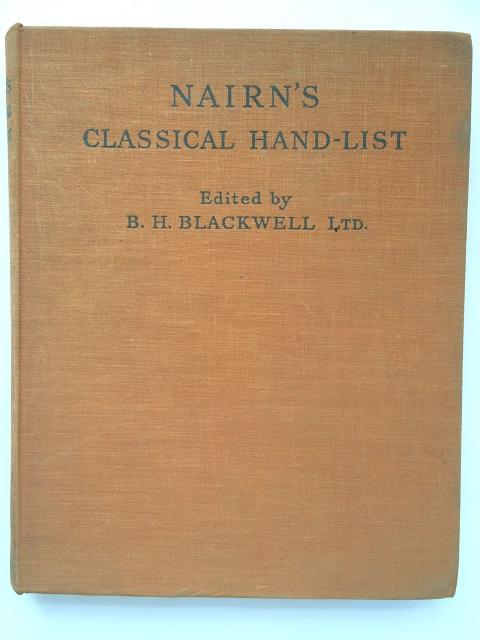 J. A. Nairn's Classical Hand-List :