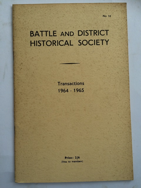 Image for Battle and District Historical Society No. 14 :Transactions 1964 - 1965