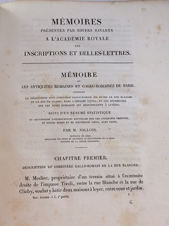 Image for Memoire sur les antiquites romaines et gallo-romaines de Paris :Memoires presentes par divers savants a l'Academie Royal des Inscriptions et Belles-Lettres