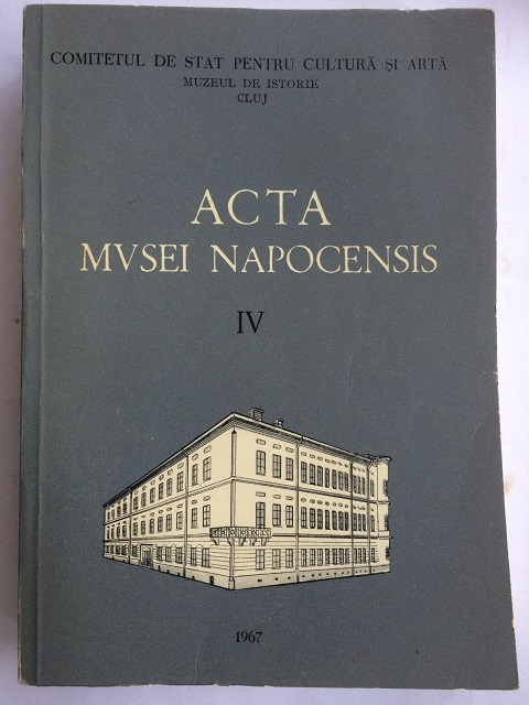 Image for Acta Musei Napocensis IV :