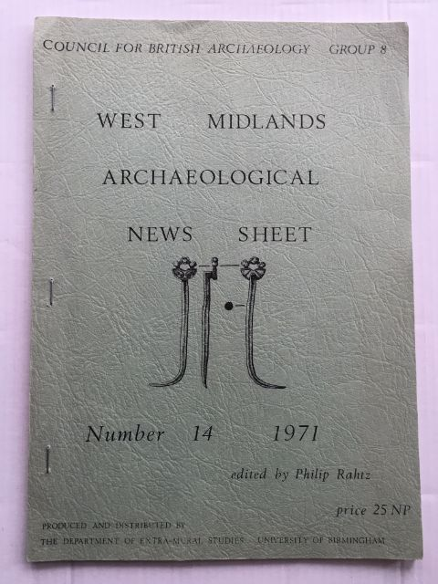 Image for West Midlands Archaeological News Sheet No. 14 1971 :