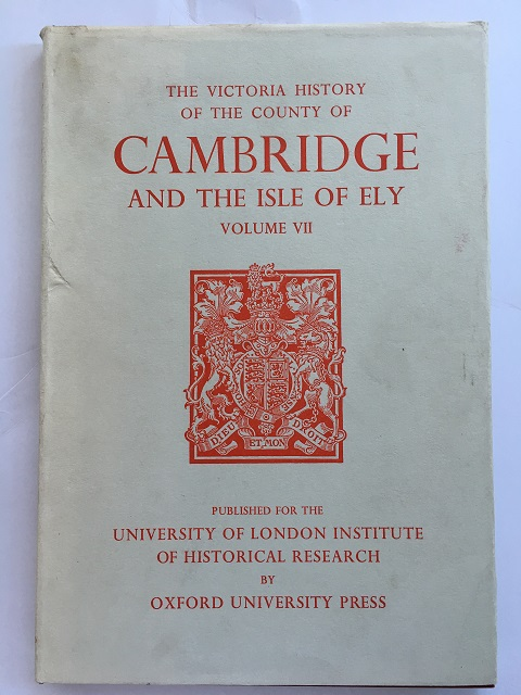 Image for A HISTORY OF THE COUNTY OF CAMBRIDGE AND THE ISLE OF ELY, ROMAN CAMBRIDGESHIRE, VOLUME VII :