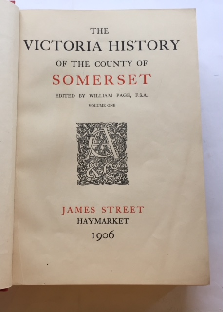 Image for SOMERSET Vol I, :