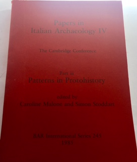 Papers in Italian Archaeology IV The Cambridge Conference Part iii :Patterns in Protohistory BAR International Series 245