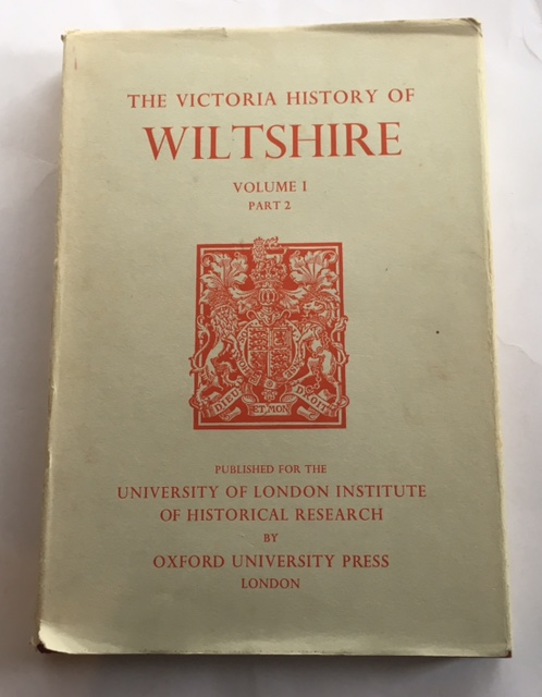 Image for A History of Wiltshire Volume I Part 2 (Victoria County History) :