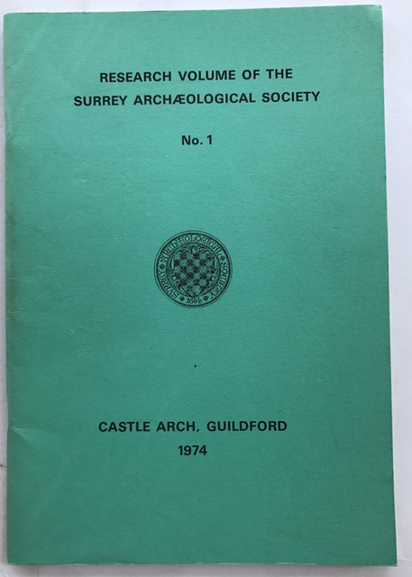 Image for Research Volume of the Surrey Archaeological Society No. 1 :