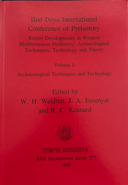 Image for Recent Developments in Western Mediterranean Prehistory: Volume I, Archaeological Techniques and Technology  :