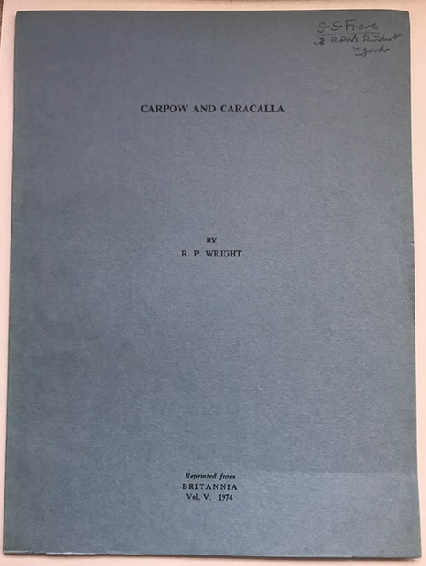 Image for Carpow and Carcalla :Reprinted from Britannia Vol. V 1974