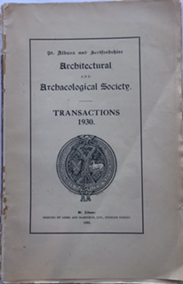 Image for St Albans and Hertfordshire Architectural and Archaeological Society, Transactions 1930 :