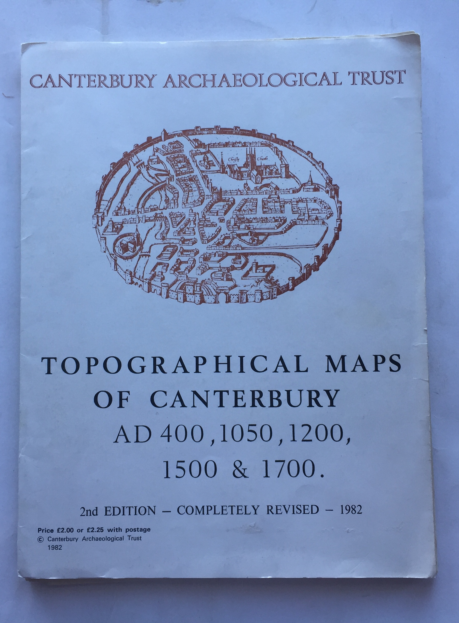 Image for Topographical Maps of Canterbury :AD 400, 1050, 1200, 1500 & 1700