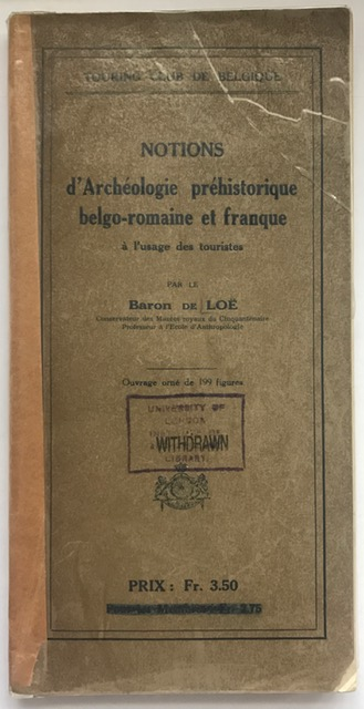 Image for Notions :d'Archeologie prehistoriquw belgo-romanie et franque a l'usage des touristes