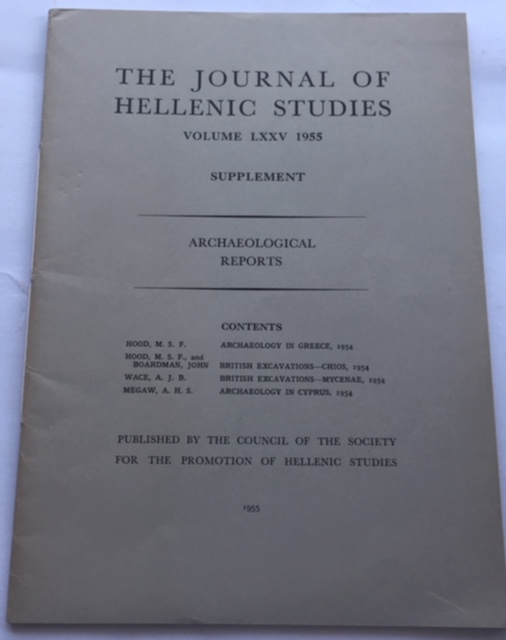 Image for The Journal of Hellenic Studies, Volume LXXV :Archaeological Reports