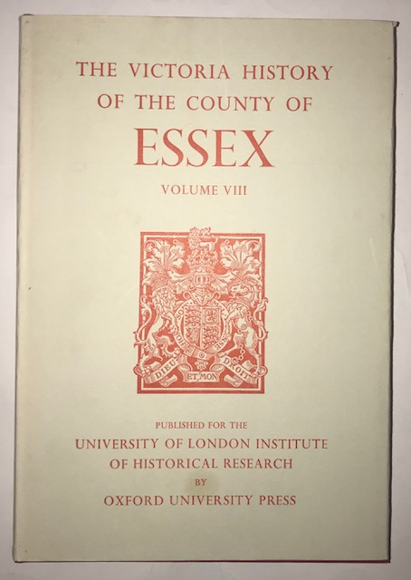 Image for A History of the County of Essex, Vol VIII :Victoria County History