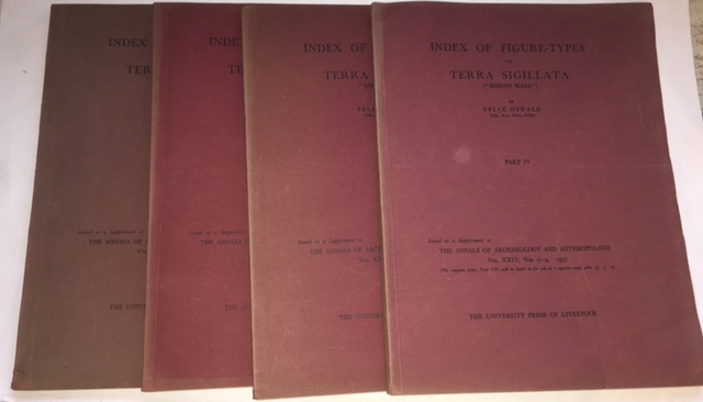 Image for Index of figure-types on terra Sigillata ('Samian ware')(4 vols) :issued as a Supplement to the Annals of Archaeology and Anthropology, the University Press of Liverpool 1936-7