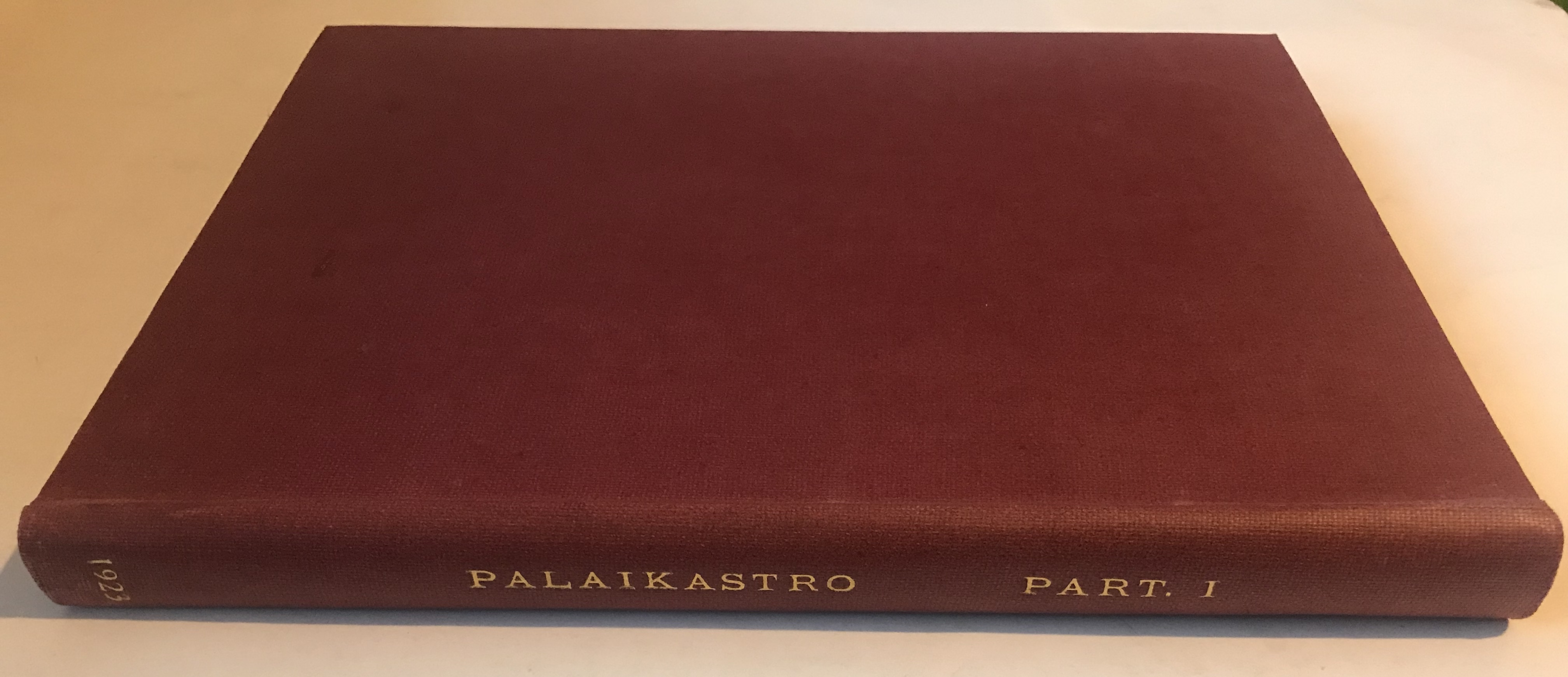 Image for The Unpublished Objects from the Palaikastro Excavations 1902-1906 :