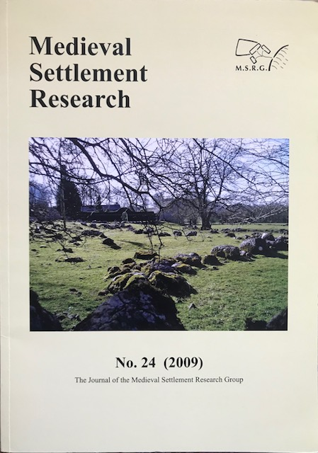 Image for Medieval Settlement Research No. 24 (2009) :