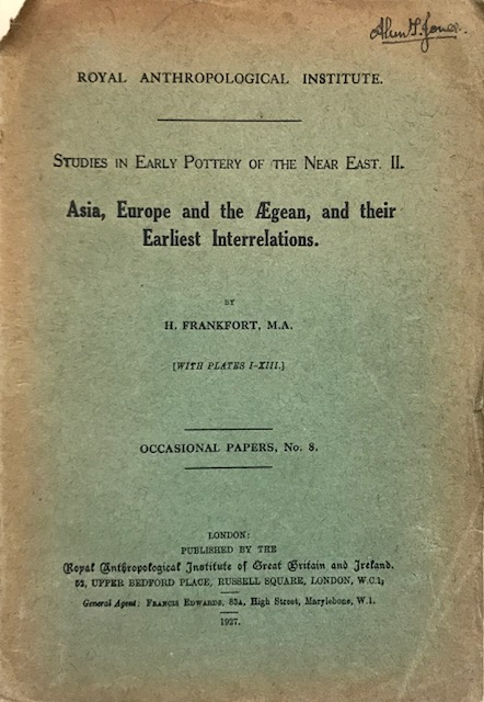 Image for Asia, Europe and the Aegean, and their Earliest Interrelations :