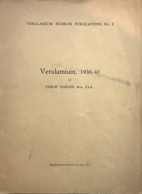 Image for Verulamium, 1930-40 :Reprinted from Antiquity for June 1941