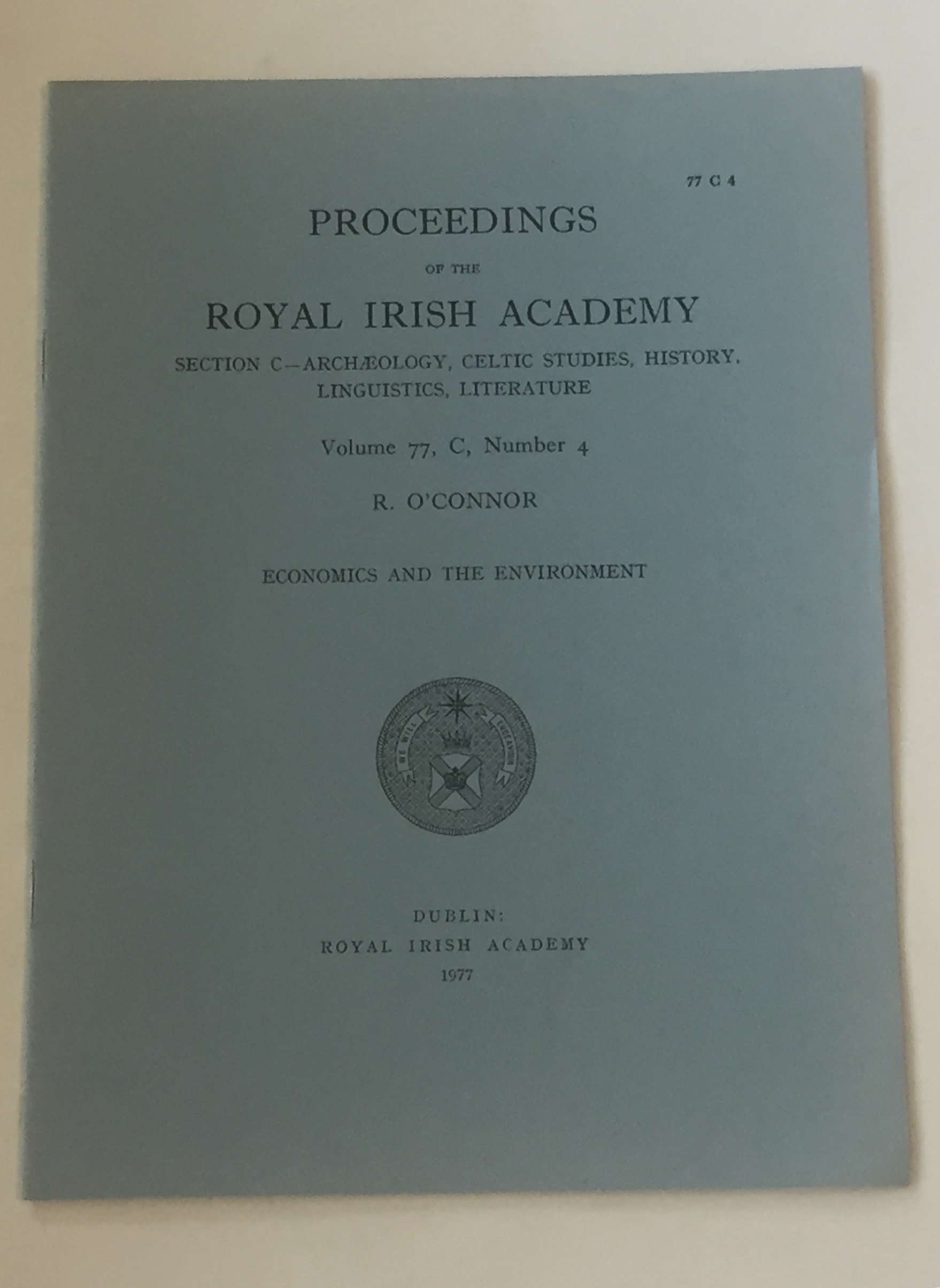Image for Proceedings of the Royal Irish Academy, Volume 75, Section C, No. 2 :Science, Policy, and Science Policy