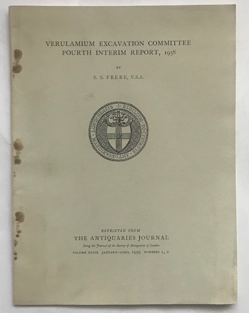 Image for Excavations at Verulamium 1958 Fourth Interim Report :The Antiquaries Journal Volume XXXIX January-April 1959 Numbers 1, 2
