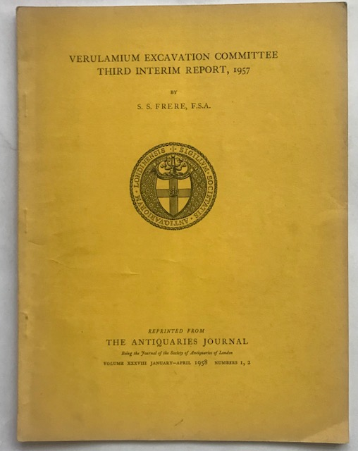 Image for Excavations at Verulamium 1957 Third Interim Report :The Antiquaries Journal Volume XXXVIII January-April 1958 Numbers 1, 2