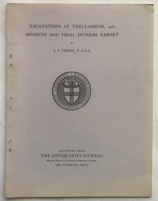 Image for Excavations at Verulamium 1961 Seventh and Final Interim Report :The Antiquaries Journal 1962 Volume xlii part ii