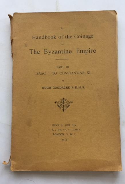 Image for A Handbook of the Coinage of the Byzantine Empire :