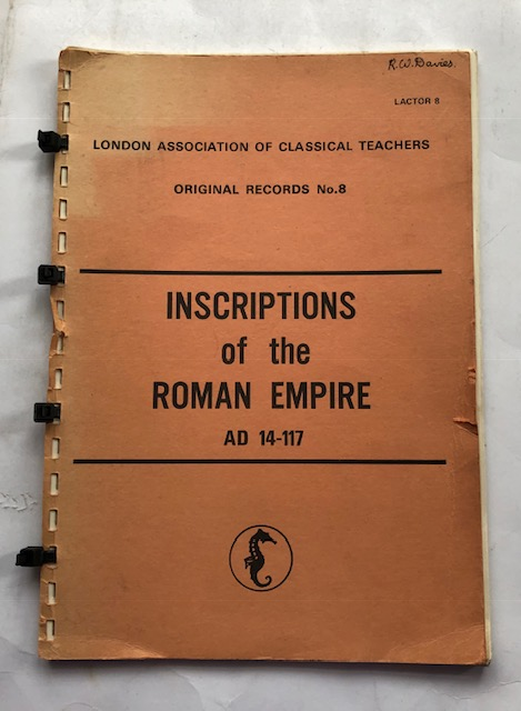 Image for Inscriptions of the Roman Empire Ad 14-117 :London Association of Classical Teachers Original Records No.8