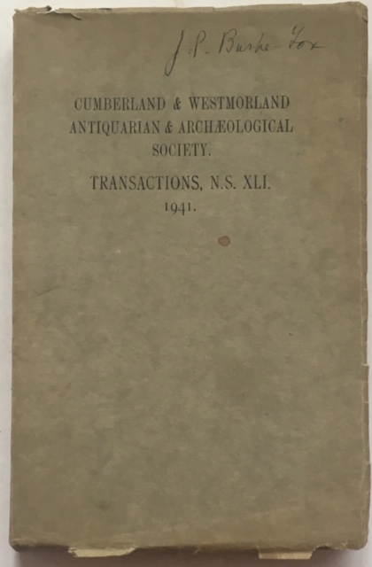 Image for Transactions of the Cumberland & Westmorland Antiquarian & Archaeological Society :Volume XLI New Series