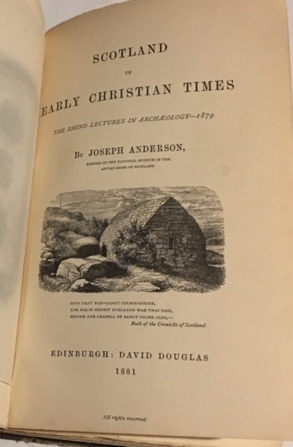 Image for Scotland in Early Christian Times :the Rhind Lectures in Archaeology 1879