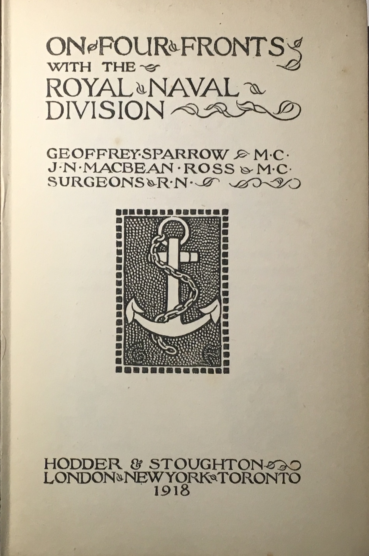 Image for On Four Fronts with the Royal Naval Division :