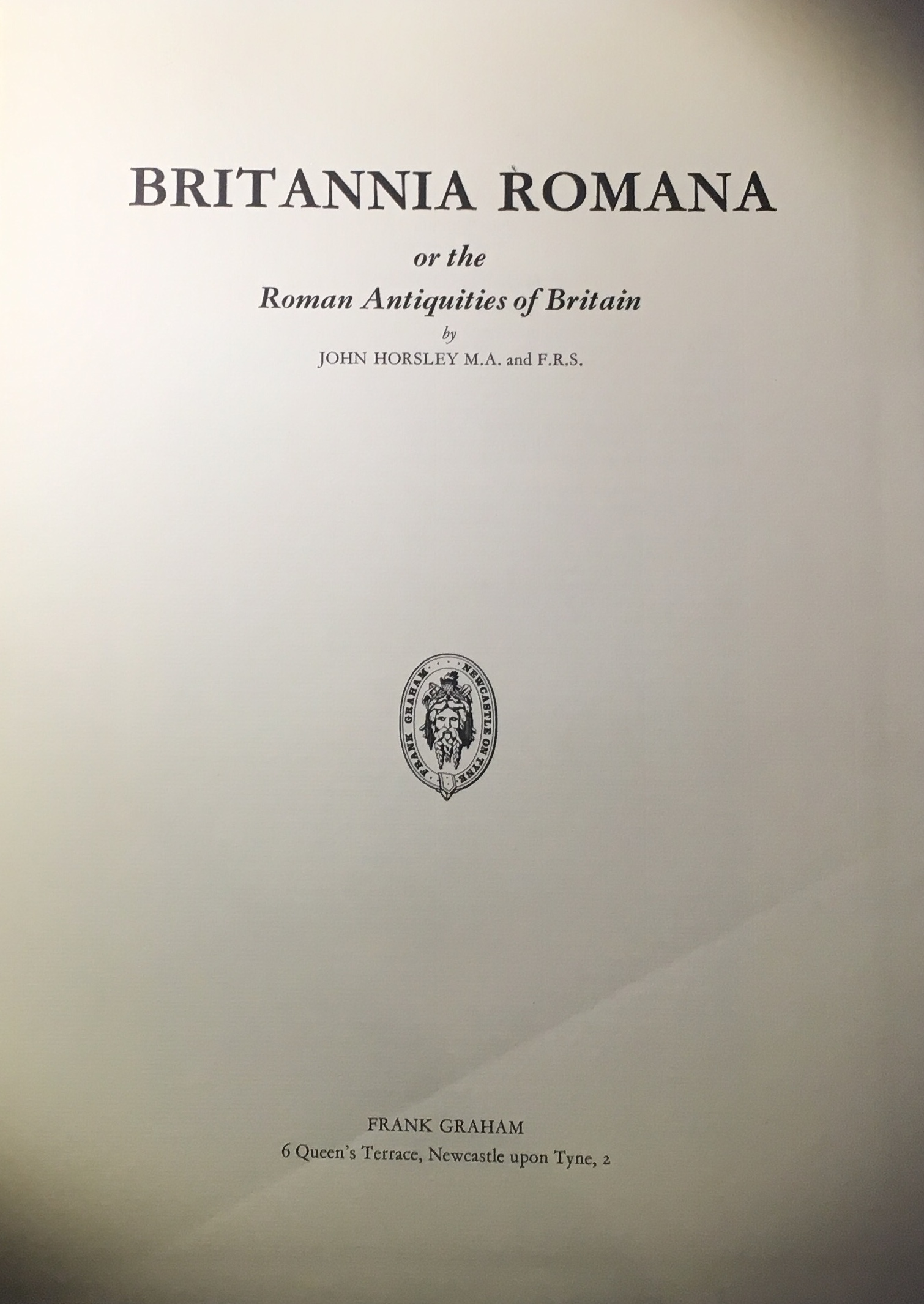 Image for Britannia Romana :or the Roman Antiquities of Britain: in Three Books