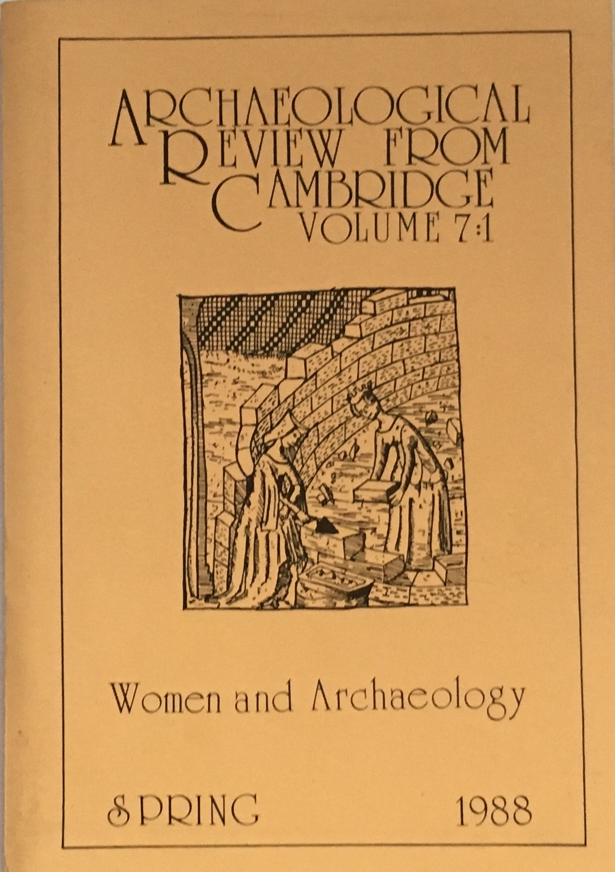 Image for Archaeological Review from Cambridge Volume 7:1 :Women and Archaeology Spring 1988