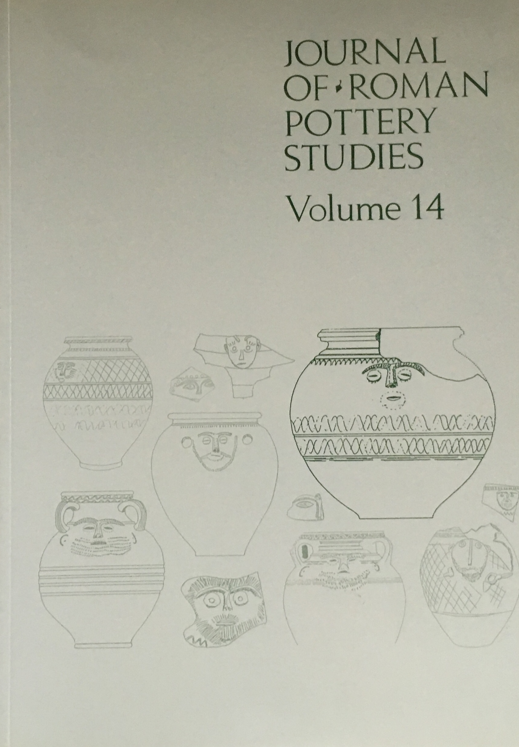 Image for Journal of Roman Pottery Studies Volume 14 :