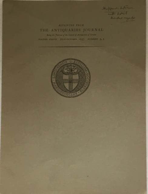 Image for The Verulamium Forum Inscription Notes :Reprinted from the Antiquaries Journal Volume xxxvii July-October 1957 Numbers 3, 4