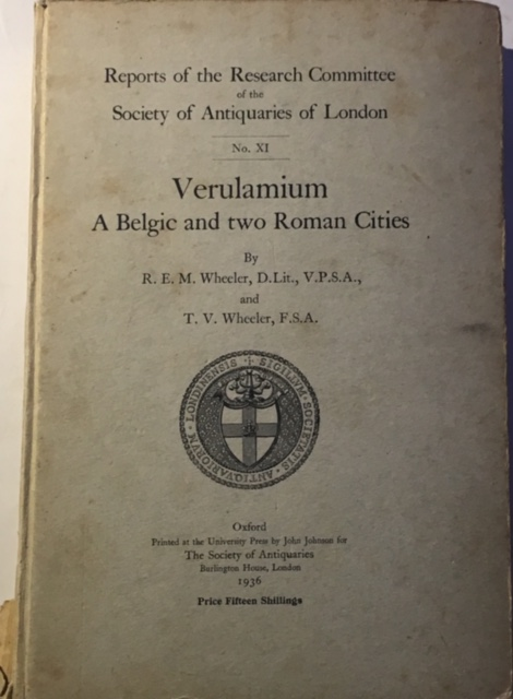 Image for Verulamium: A Belgic and Two Roman Cities :(Reports of the Research Committee of the Society of Antiquaries of London No. XI)