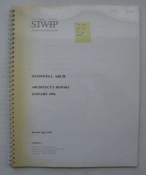 Sandwell Arch :Architect's Report January 1994