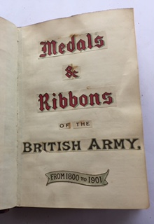 MEDALS AND RIBBONS OF THE BRITISH ARMY,, Anon