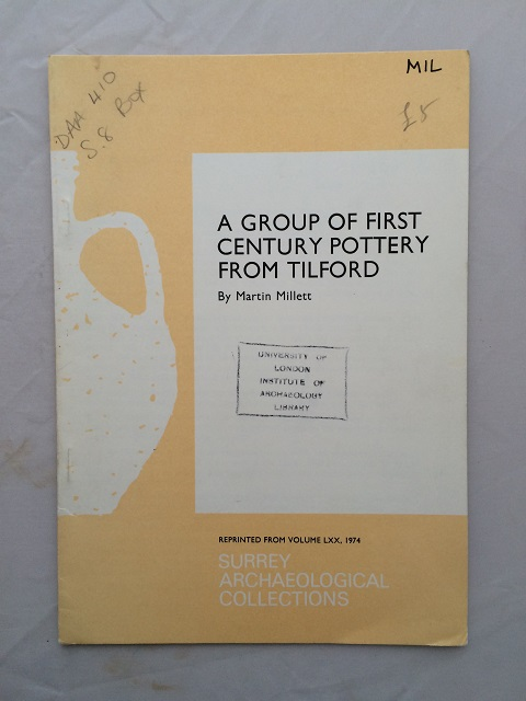 A group of first century pottery from Tilford :, Millett, Martin ;