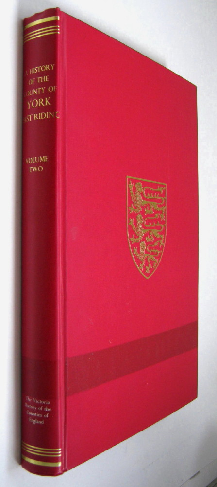 A HISTORY OF THE COUNTY OF YORK, EAST RIDING, VOLUME II (Victoria County History),, Allison, K J (ed)