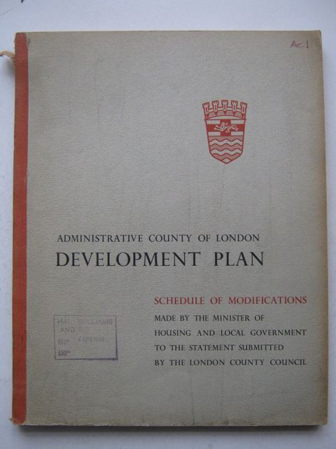 Administrative County of London Development Plan, Schedule of Modifications, Anonymous